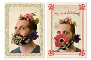 Karten zum Valentinstag »Sag's mit Blumen«
